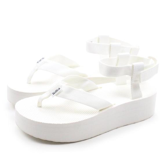 2f430d619c5 Teva FLATFORM Sandal Bright White Platform Sandals